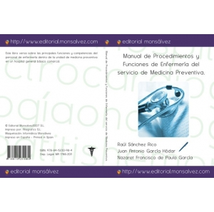 Manual de Procedimientos y Funciones de Enfermería del servicio de Medicina Preventiva.