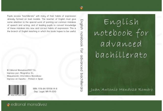 English notebook for advanced bachillerato